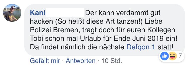 Tanzender Polizist Bremen