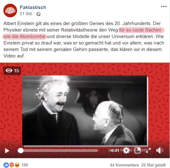 Faktastisch Will Albert Einstein Feiern Und Kassiert Einen