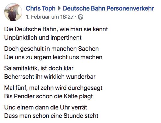 Erstaunlich Deutsche Bahn Begeistert Unzufriedenen Kunden