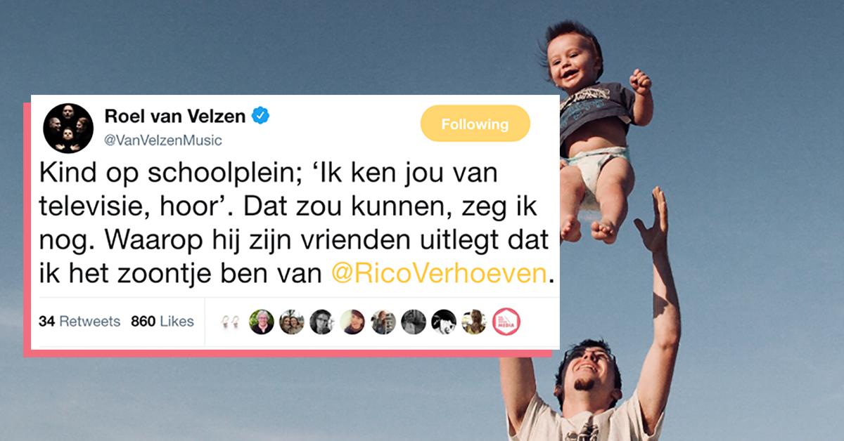 Kind Denkt Dat Roel Van Velzen Zoontje Van Rico Verhoeven Is En