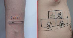 header tattoo artist