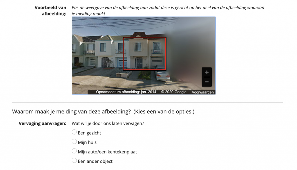 Google Street View blurren