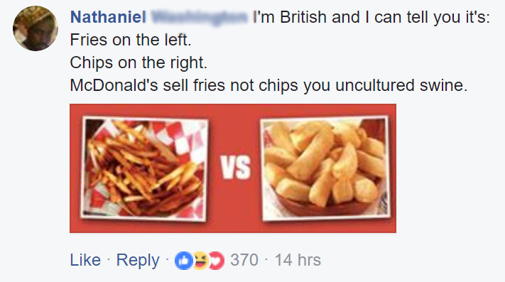 Mcdonalds Uks Meme Sparks A Fiery Debate About French Fries And Chips