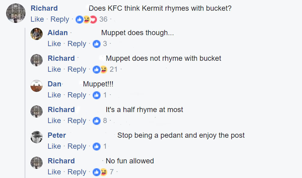 KFC tried to make a meme and the confused reactions are finger