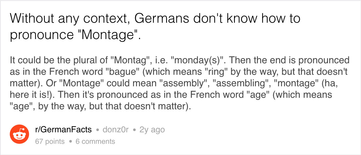 Germans Clearly Love To Confuse Themselves