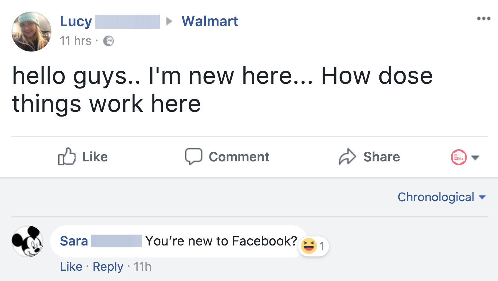 Hot Tip If Youre New To Facebook Just Ask The Official Walmart Page For Help