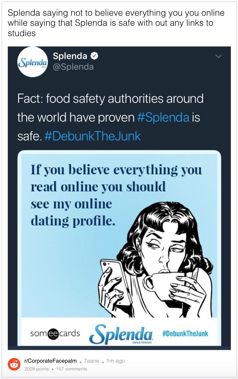 splenda dating
