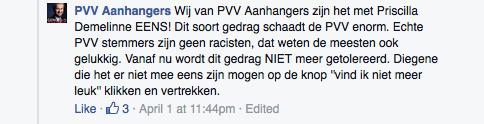 reactie pvv aanhangers