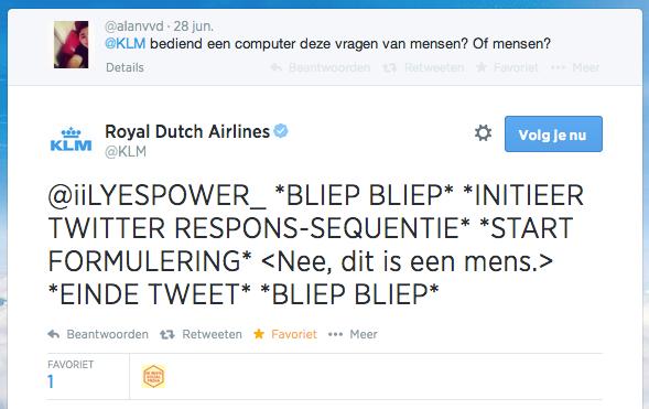KLM_robotreactie