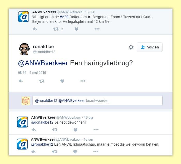 ANWB_Haringvlietbrug_winnen_humor_reactie