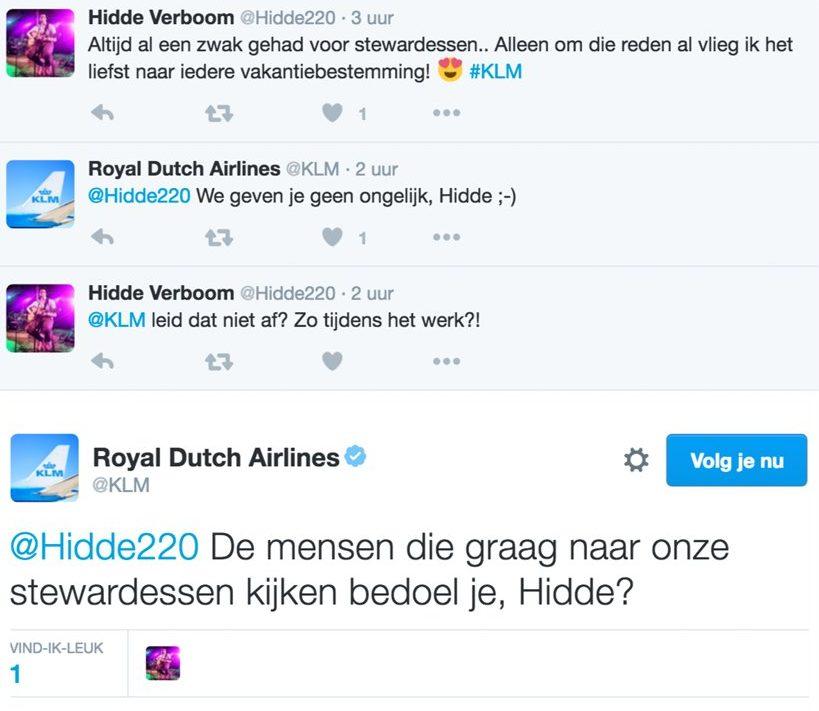 KLM_reactie_humor_rokkenjager