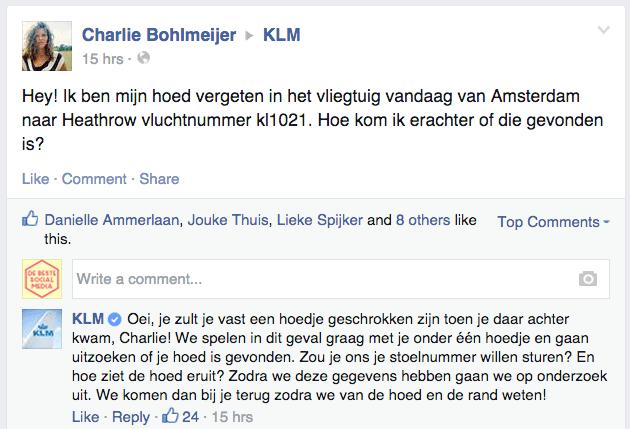 Reactie_KLM_hoed