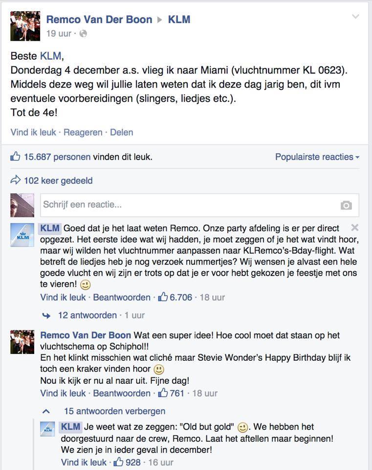 Reactie_KLM_verjaardag_feestje