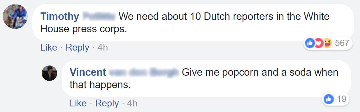 Americans applaud Dutch journalists for asking US ambassador