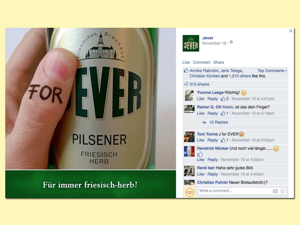 jever for ever